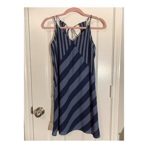 Abercrombie striped slip dress with tie back